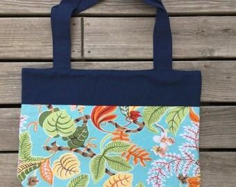Beach Bag, pool bag, tote, pockets, navy, nautical, floral,