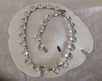 Beautiful Art Deco Crystal Open Back Necklace