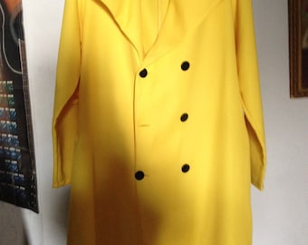 2XL Yellow Liteweight Double Breasted Coat