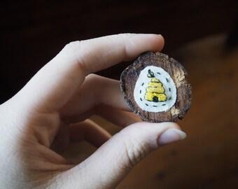 Beehive Brooch
