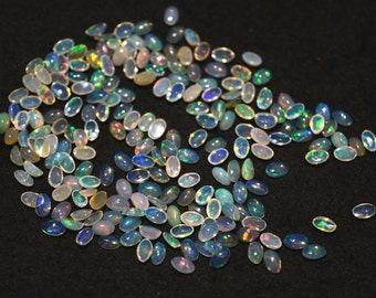 3x5mm Calibrated Ethiopian Opal Cabochon, Welo Opal, Oval Shape Cabochon, 50 Pieces