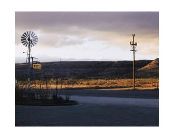 Sanderson Motel; West Texas Desert Sunrise - Color Print - FREE SHIPPING