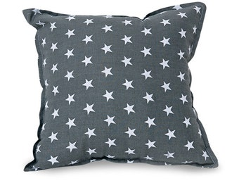 Grey stars Square pillow