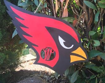 Monogram Cardinal door hanger