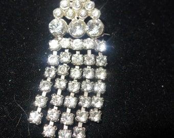 Lovely vintage 1950s sparkling rhinestone  brooch