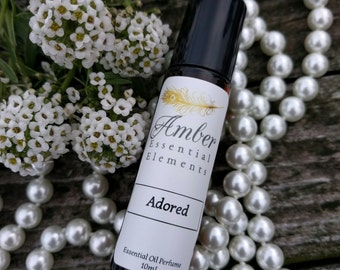 Adored: rose and lavender natural perfume blend