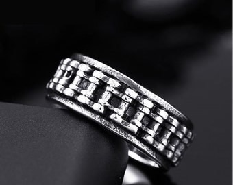 Biker ring chain stainless steel 316L for him and her (BI-010)