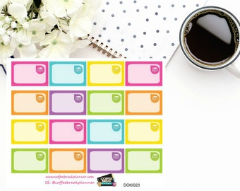 Books Assorted Rainbow Colored 1/3 boxes for Doki Discagenda| Planner Stickers| Dokibook Discagenda| Personal Planner| DOKI023