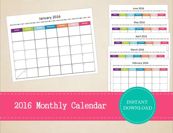 Calendar Zimbabwe Pdf Download : Items similar to printable monthly calendar