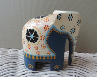 Hand Painted Elephant, Vintage