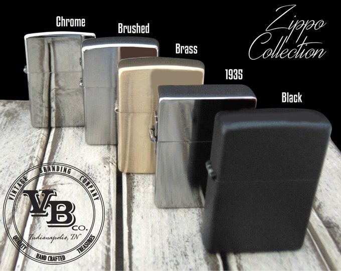Zippo Collection - Includes 5 Unique Styles - Custom Engraving - YOUR HANDWRITING - Groomsen Gift - Zippo Enthusiast - Gift for Dad - Father