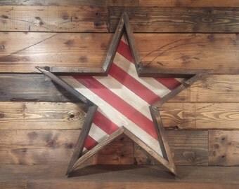 Americana Star with Stripes