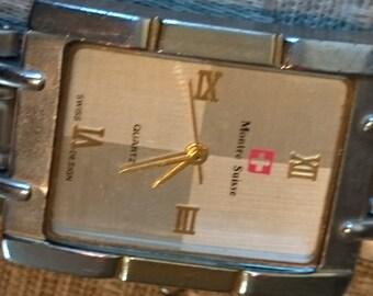 Quartz movement  Montre Suisse Unisex Watch                                                                                            .