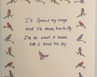 Birds Quote Print, Birds Quote Art, Birds Quote Digital Print to download