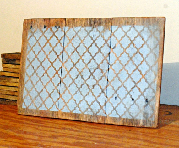 Wooden Lattice Wall Decor : Reclaimed wood pallet wall art turquoise by