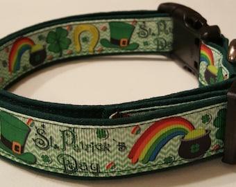 dog collar, pot of gold, shamrock dog collar, st. patricks day, st. patricks day dog collar, st. paddys, st. paddys dog collar