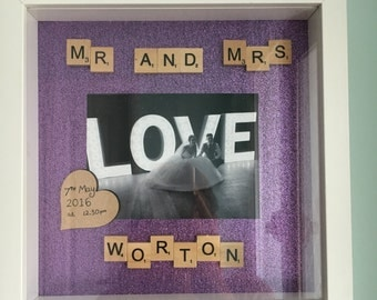 Mr & Mrs gift frame
