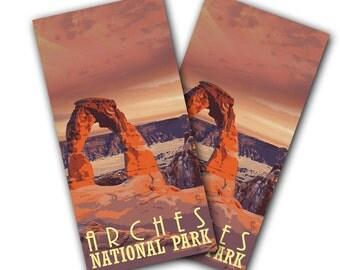 Arches National Park Cornhole Wraps - Cornhole Wraps - Cornhole Skins - National Park Wrap