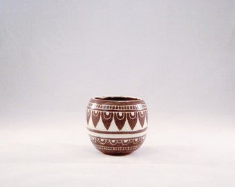 Moroccan ceramic red cup, tea light holder