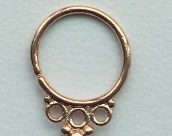 Grace Rose Gold 16G Septum Ring