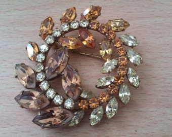 vintage glass bead brooch