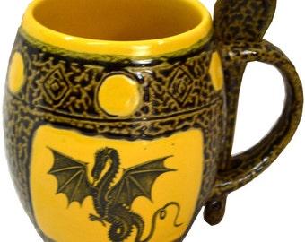 Winged Dragon 4 Mug with Spoon