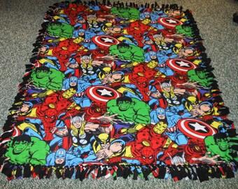 Fleece Marvel Blanket - Spideman, Wolverine, Captain America, Hulk, Thor, Avengers -  Christmas gift- Warm and Cozy