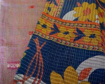 Vintage Indian Kantha Throw