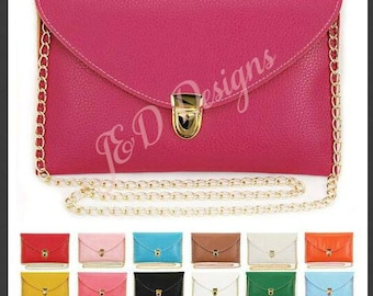 Personalized Faux Leather Clutch