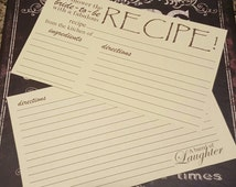 Set of 20 Vintage Recipe cards for bridal shower gift, house warming gift or just because