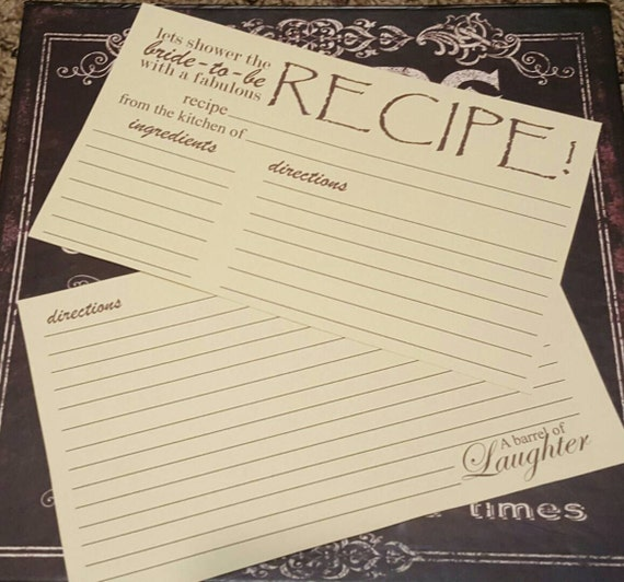 Wedding Gift Recipe Cards : Vintage Recipe for Love recipe card bridal shower gift wedding gift ...