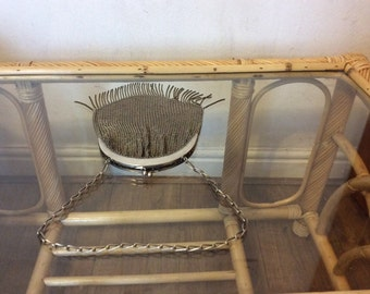 Victorian engraved mesh purse
