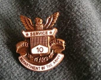 Rare Vintage CORO Pegasus Army service pin, 1920's