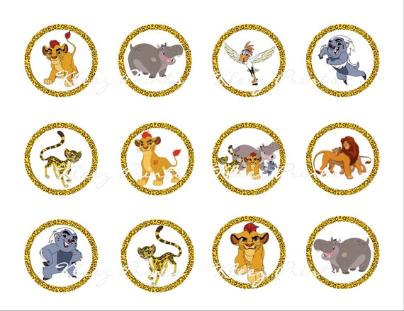 The Lion Guard Cupcake Toppers The Lion Guard Birthday