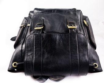100% REAL LEATHER RUCKSACK bag