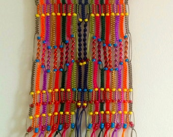 Multi coloured wall hanging home decor