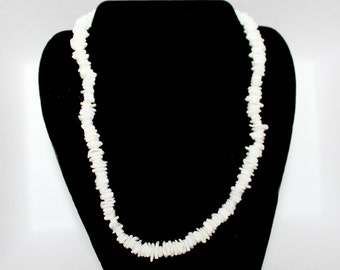 White Shell Chip Necklace 106