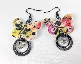 """The """"Graffiti"""" collection earrings"""