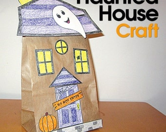Halloween Party Haunted House Craft
