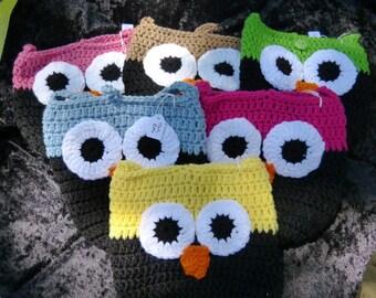 Owl Bag - crochet Medium size