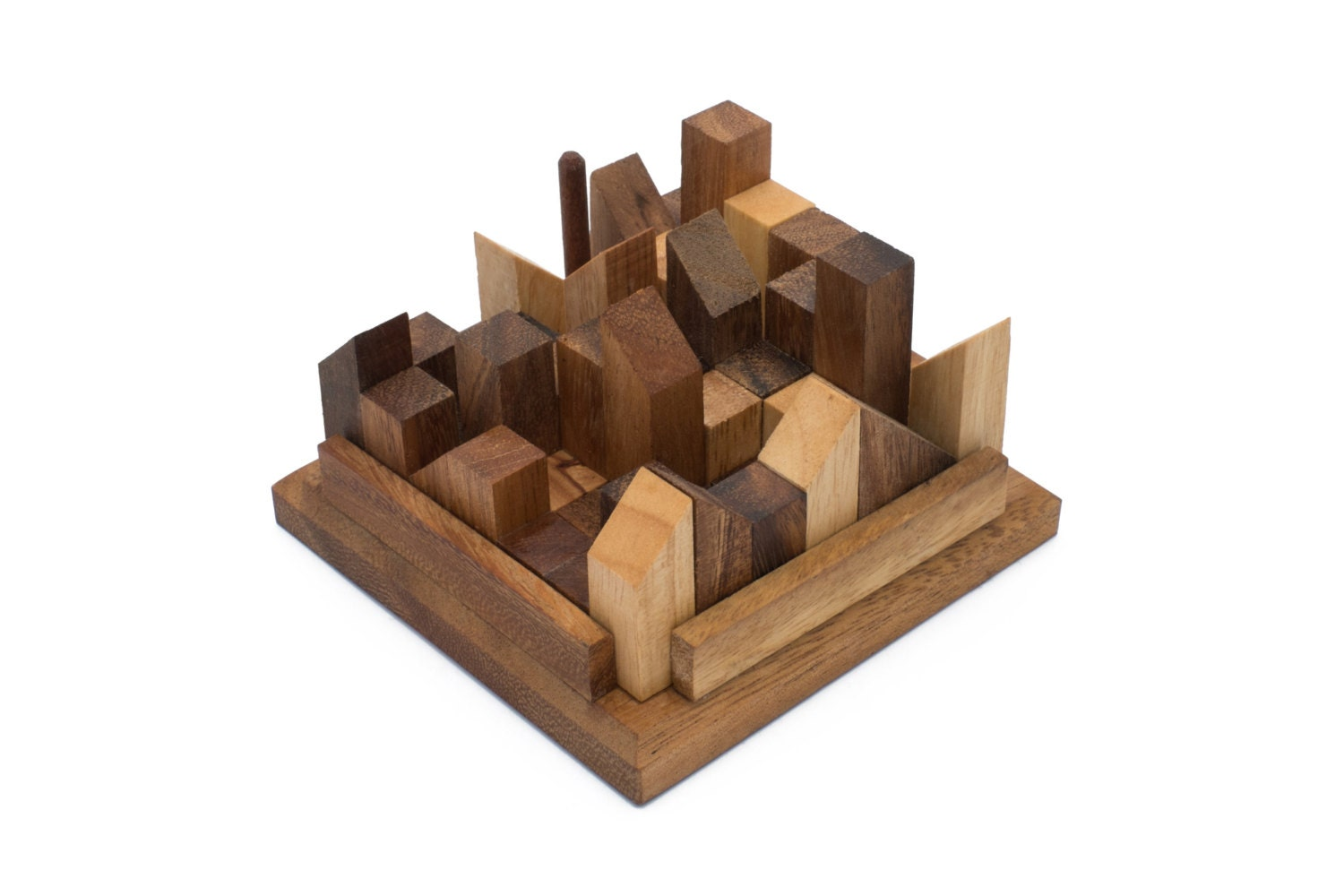 Wooden Toy : Big City Challenge The Organic Natural Puzzle