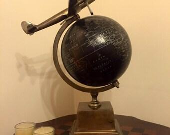 Original one of a kind aeroplane globe