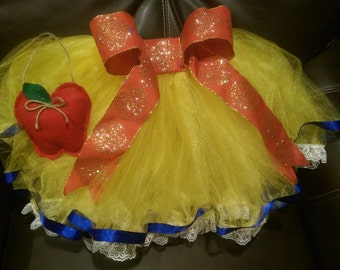 Snow White Tutu with apple accessory