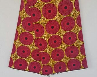 Mini waterwell Ankara African Print / Ankara Fabric / Wax Print / African Cloth/ Bright Fabric/ Bright material