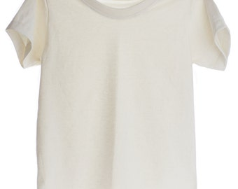 Plain T-shirt 100% Organic Cotton and Non-Toxic for Kids