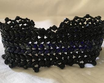 Flat Superduo Herringbone Bracelet