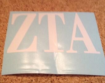 """Zeta Tau Alpha  SororityDecal 3x4"""""""