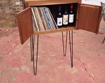 Walnut bar / record cabinet