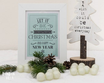 Christmas postcard * let it be *.