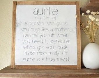 Auntie Sign